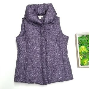 Coldwater Creek Purple Puffer Vest